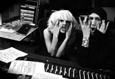 LadyGaga_MarilynMansoninthestudio